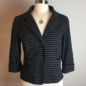 Cynthia Rowley Black & Gray striped jacket